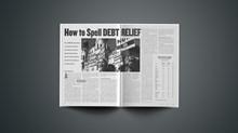 How to Spell Debt Relief