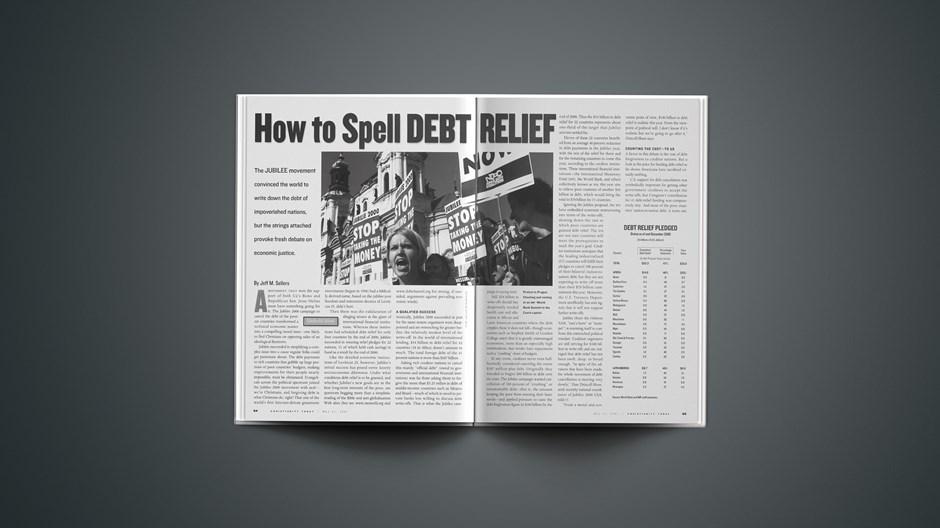 Debt Relief Pledged
