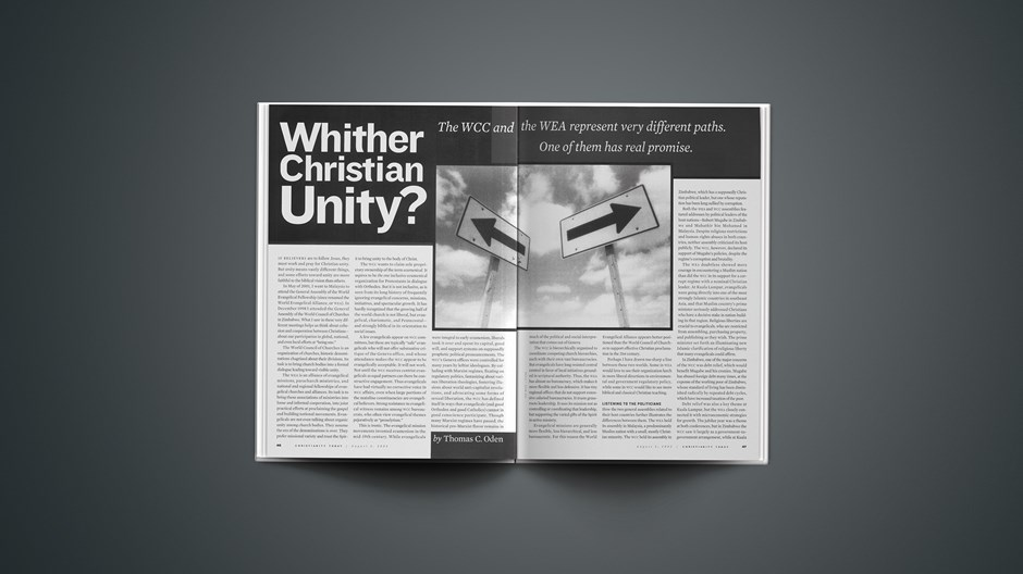 Whither Christian Unity?