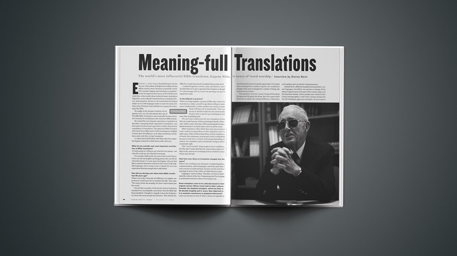 Interview: Eugene Nida on Meaning-full Translations