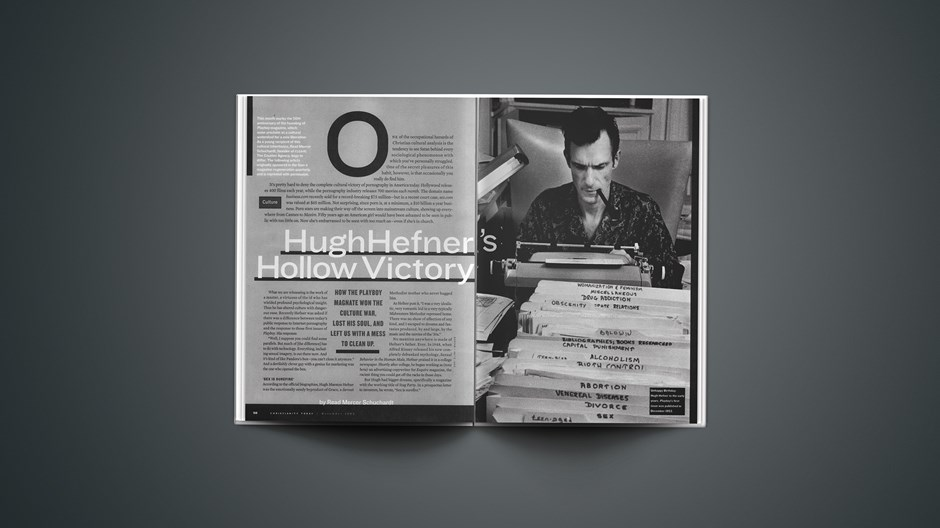 Hugh Hefner's Hollow Victory