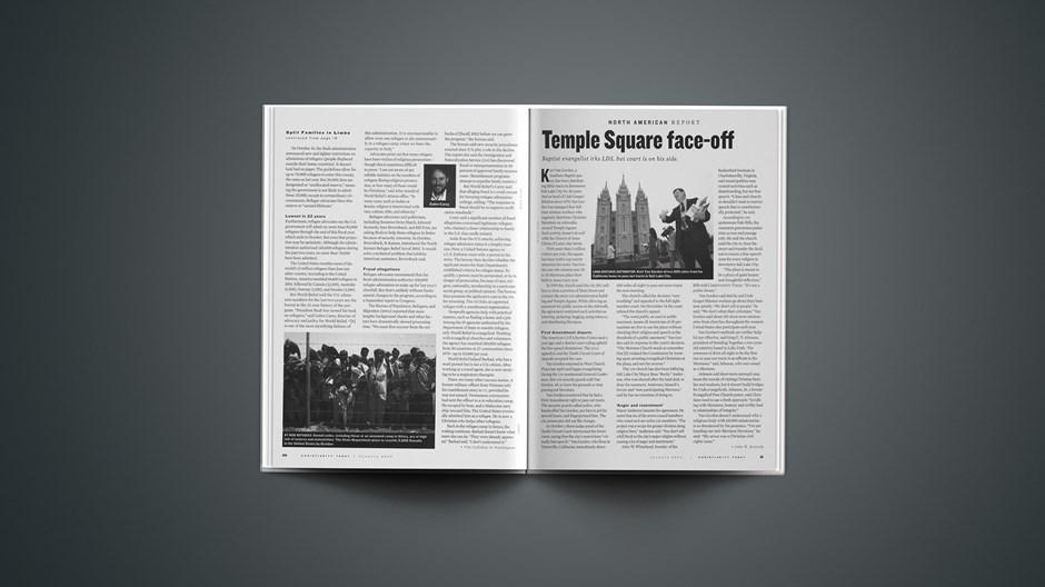 Temple Square face-off