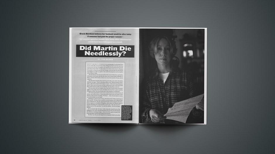 Did Martin Die Needlessly?