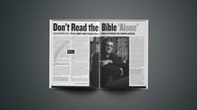 Don't Read the Bible 'Alone'