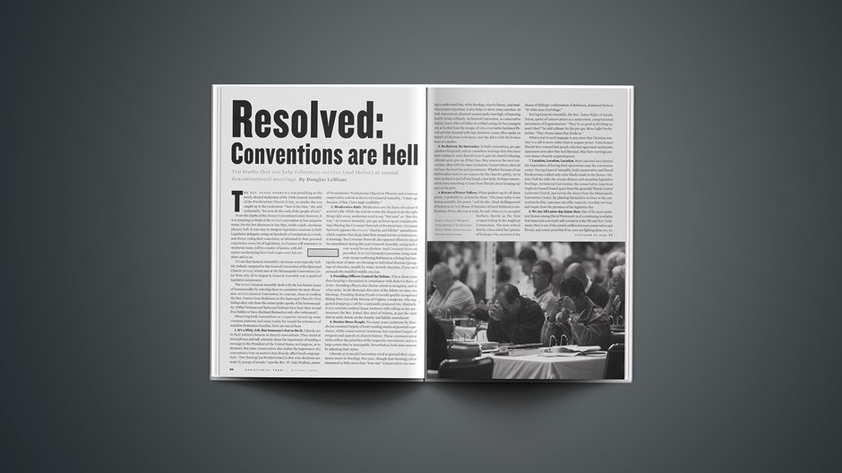 Resolved: Conventions Are Hell