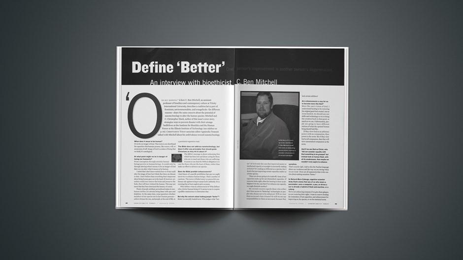 Define 'Better'