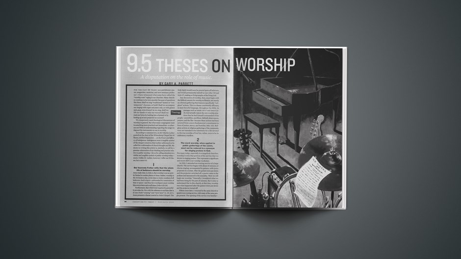 9.5 Theses on Worship
