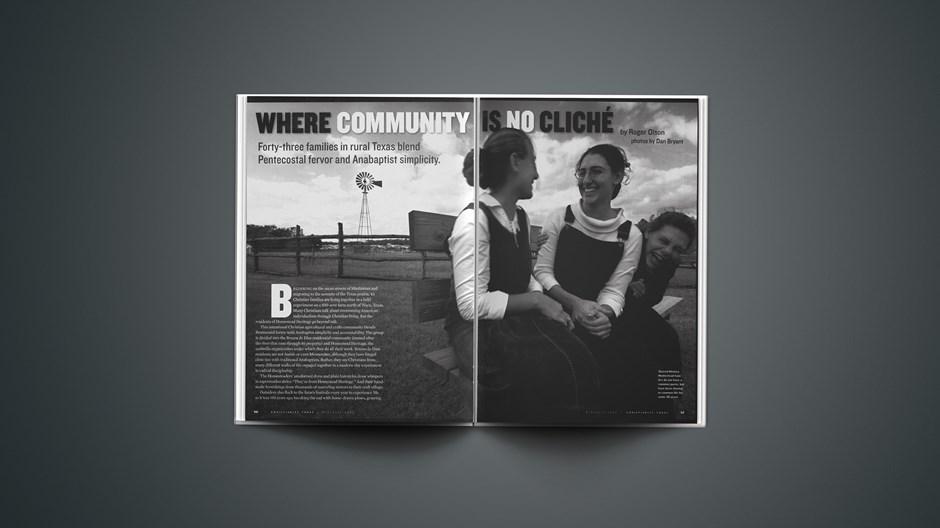 Where Community Is No Cliché