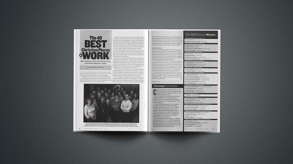 The 40 Best Christian Places to Work