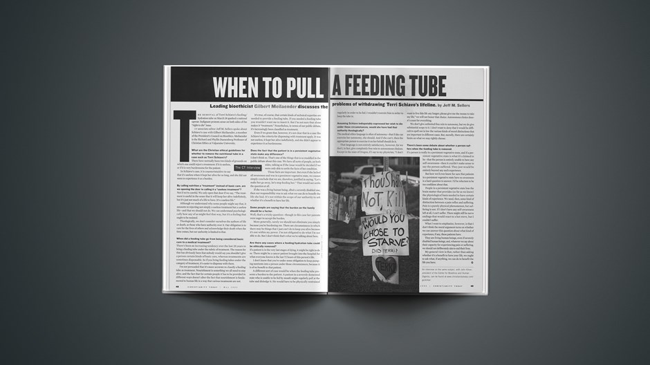 When to Pull a Feeding Tube