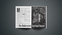 The Underrated Spiritual Secret