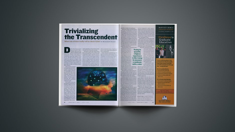 Trivializing the Transcendent