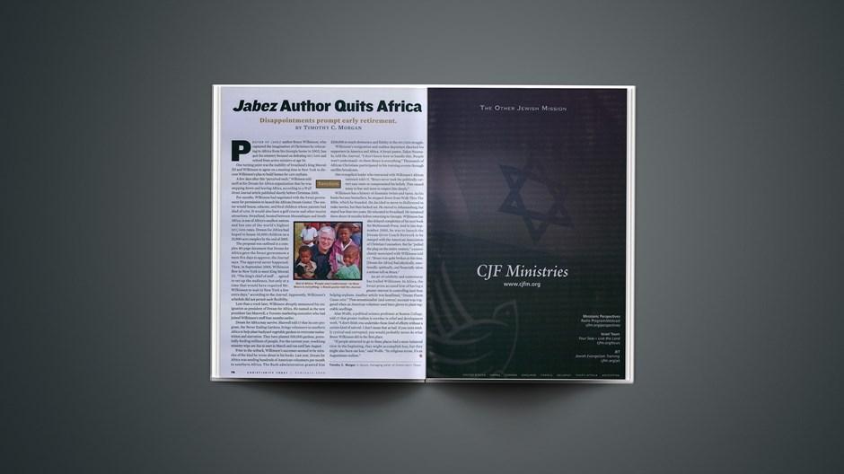 <em>Jabez</em> Author Quits Africa