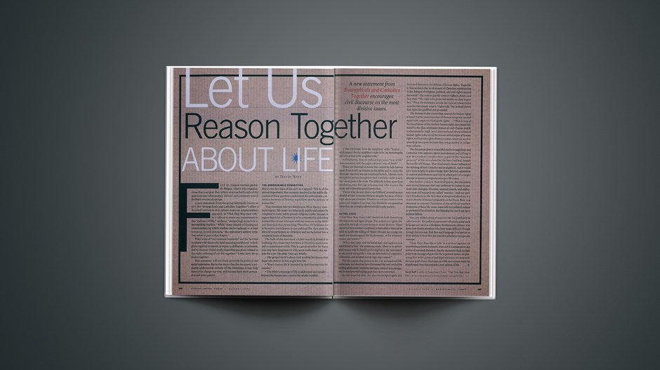 Let Us Reason Together About Life