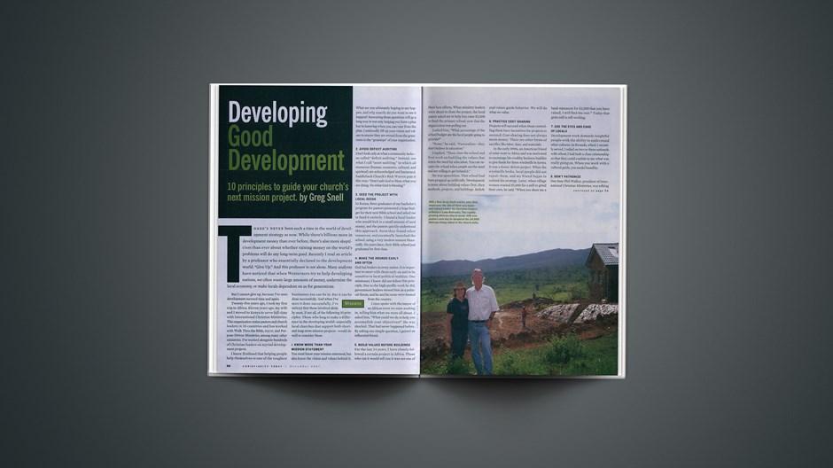 Developing Good Development