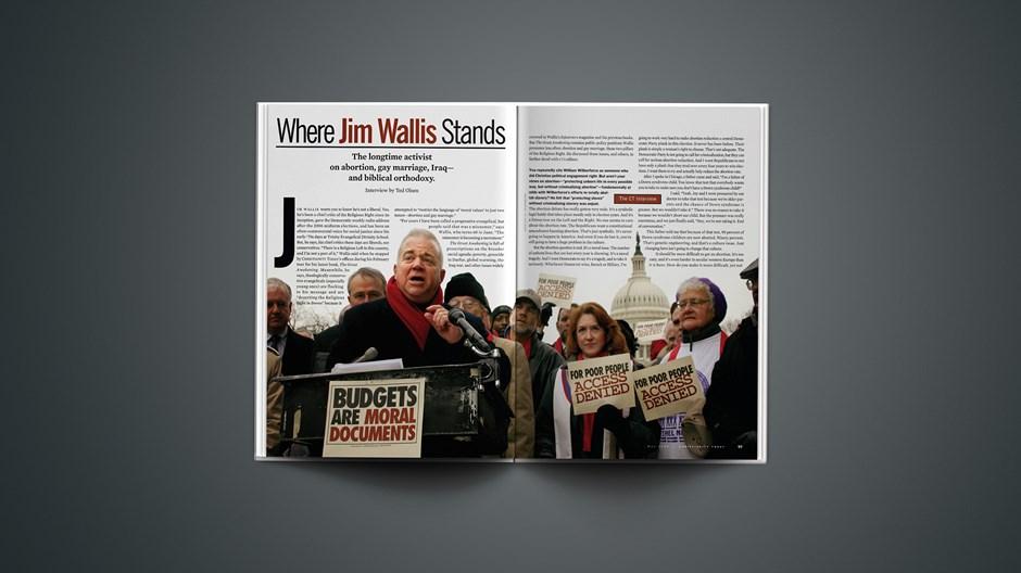 Where Jim Wallis Stands