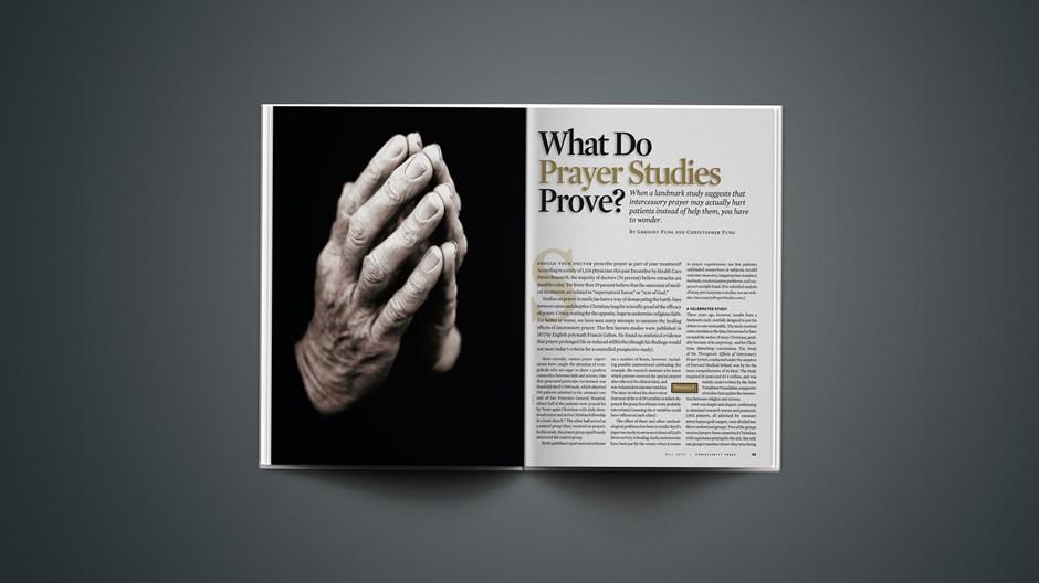 What Do Prayer Studies Prove?