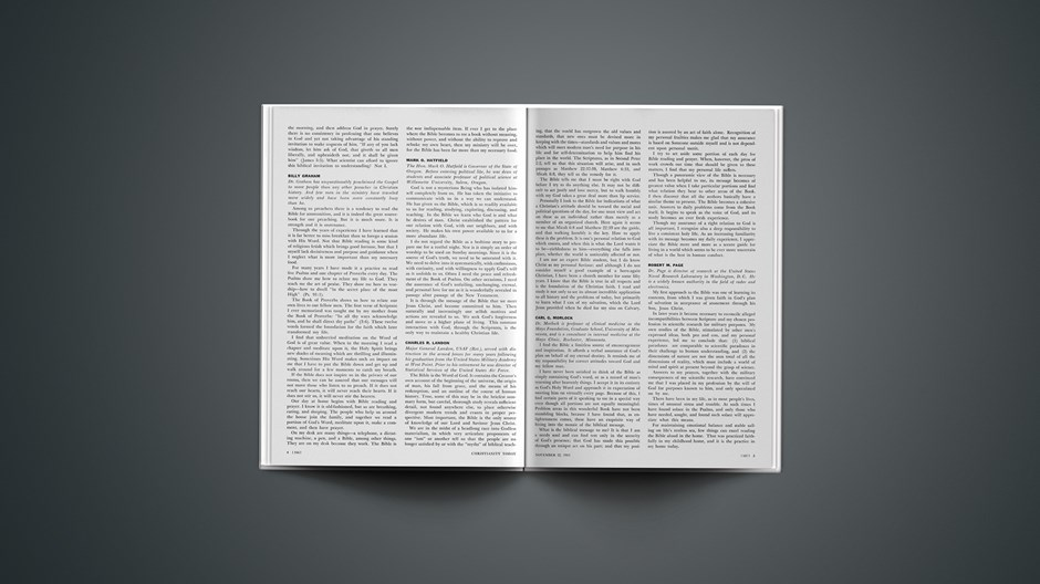Mark Hatfield's Personal Use of the Bible