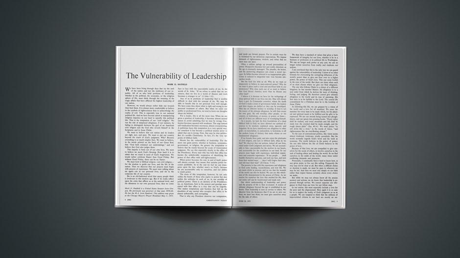 Mark Hatfield on the Vulnerability of Leadership