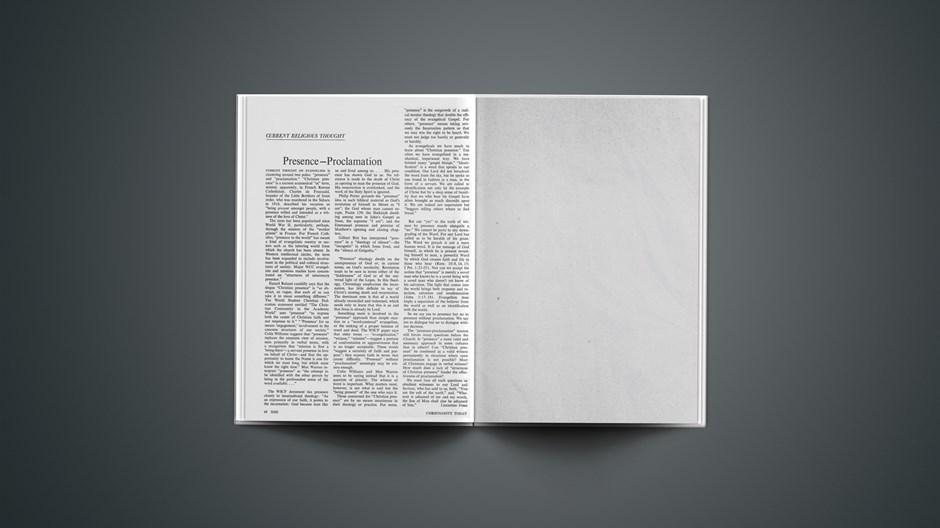 Presence–Proclamation