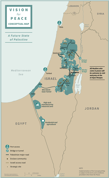 Proposed boundaries of a new Palestinian state