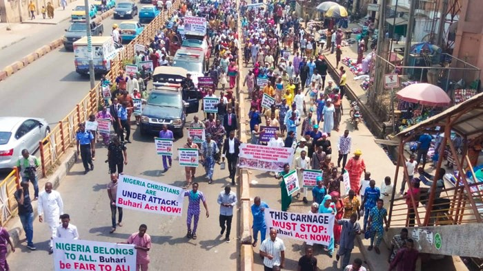 All Across Nigeria, Christians Marched Sunday to Protest Persecution