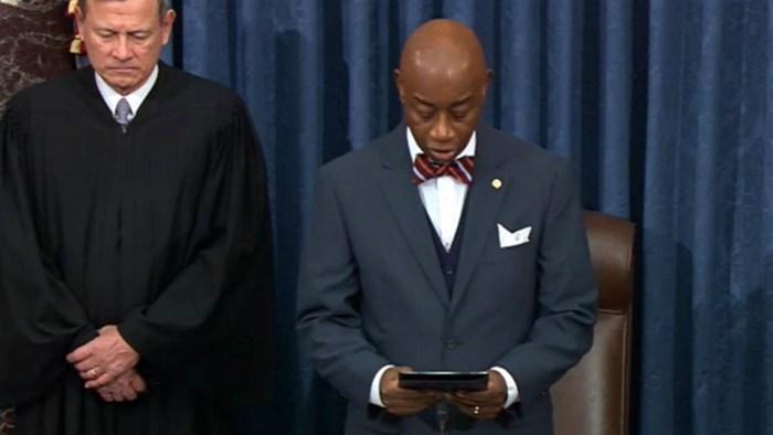 Split Down the Aisle by Impeachment, Senate Still United in Prayer
