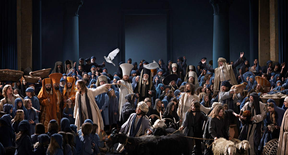 A scene from the 2010 Passion Play in Oberammergau, Germany.
