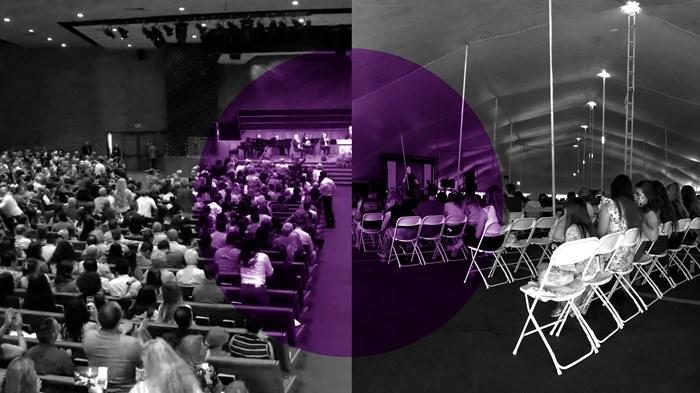 Judul Dua Gereja Mega di California Tetap Beribadah