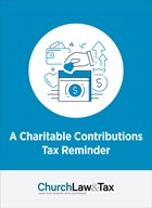 Charitable Contributions Tax Reminder