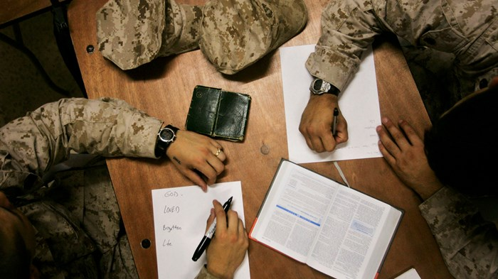 Bible Readers in Foxholes: Combat Vets More Engaged in Scripture