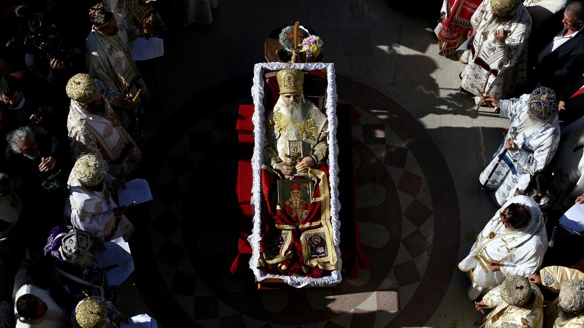 Metropolitan Amfilohije's funeral service on November 1 in Podgorica, Montenegro.