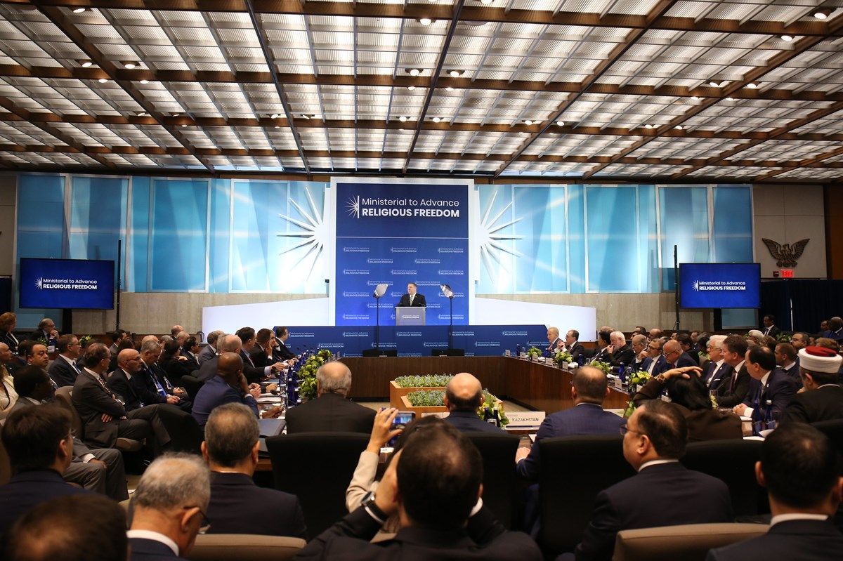 The 2019 Ministerial to Advance Religious Freedom drew about 1,000 delegates to Washington. This year's event was hosted online by Poland due to the pandemic.