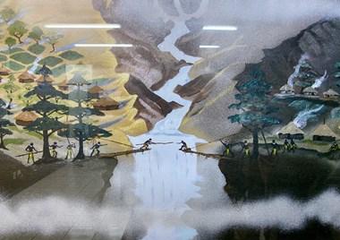 Sebuah lukisan di kantor pusat MAF di Sentani.
