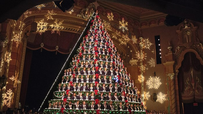 It's Hard to Social Distance When You're a Giant Singing Christmas Tree