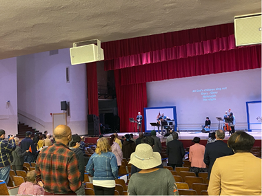 Worship at Calvary Baptist in New York City.