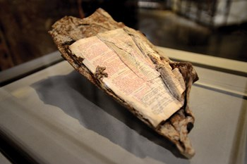 A Bible on display at the 9/11 memorial in New York