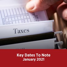 Key Tax Dates January 2021