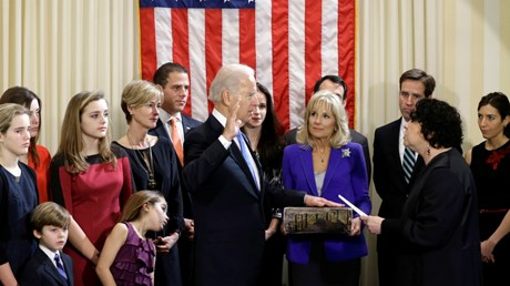 Biden's Big Bible Is Heavy with History, Symbolism