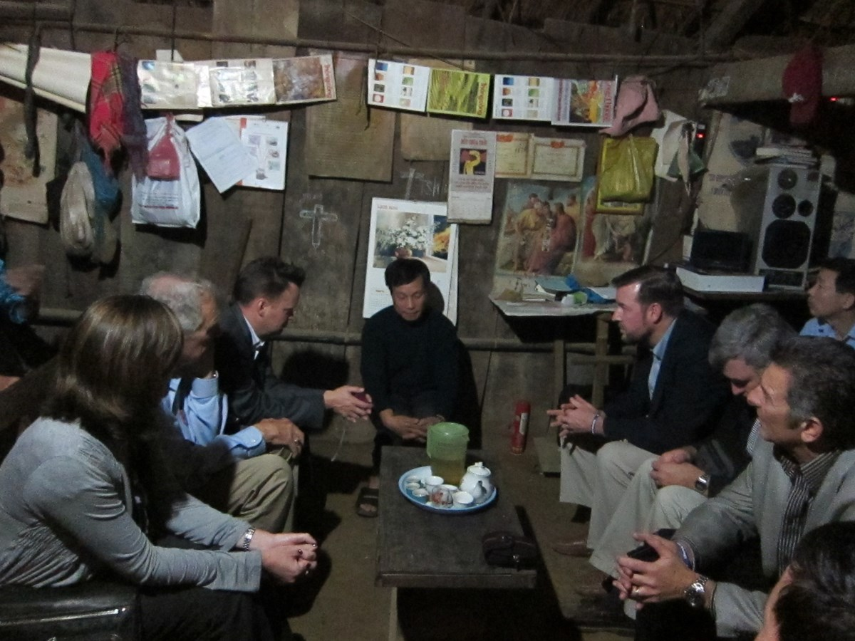 Meeting with White Hmong pastor Tu, leader of a 148-person church in the Northwest Highlands of Vietnam in December 2010.