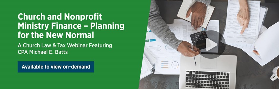 Church and Nonprofit Ministry Finance: Planning for the New Normal