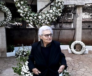 Selma Merchak, at her son Lokman Slim's funeral