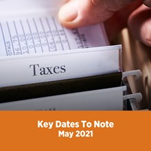 Key Tax Dates May 2021
