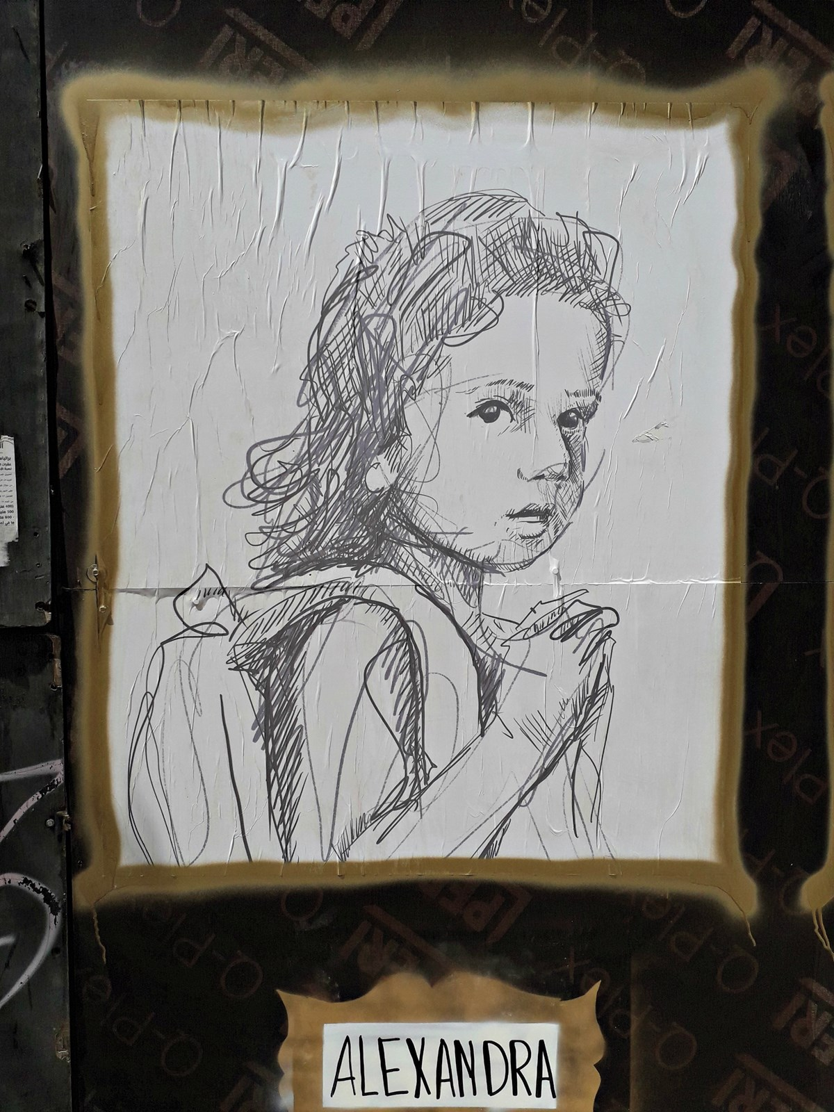 One of 204 portraits in the #TheyMatter street art gallery honoring Beirut explosion victims.