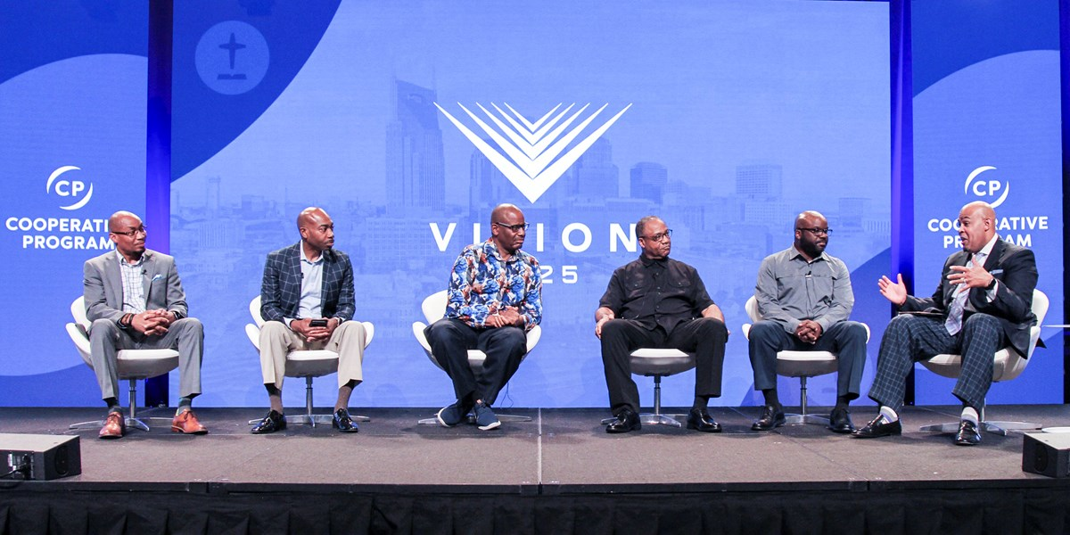 """A panel of pastors at the SBC annual meeting discusses """"Reaching, Equipping and Mobilizing African American Churches for the Great Commission."""""""