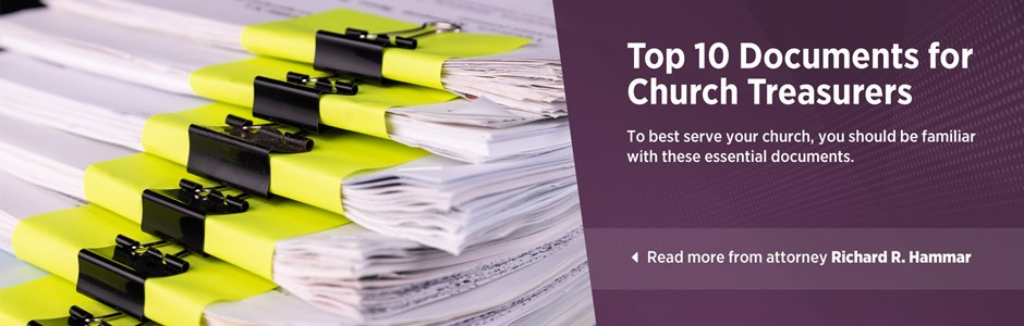 Top 10 Documents for Church Treasurers