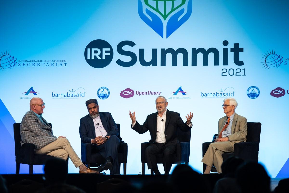 Previous IRF ambassador David Saperstein speaks at the 2021 International Religious Freedom Summit in Washington.