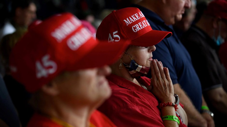 """""""政治福音派""""?更多的特朗普支持者接纳了这一身份"""
