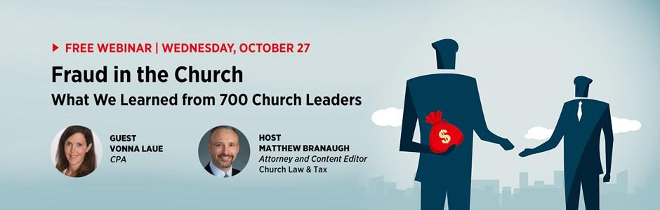 Free Webinar: Fraud in the Church