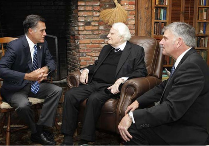 After Romney Meeting, Billy Graham Site Scrubs Mormon 'Cult' Reference